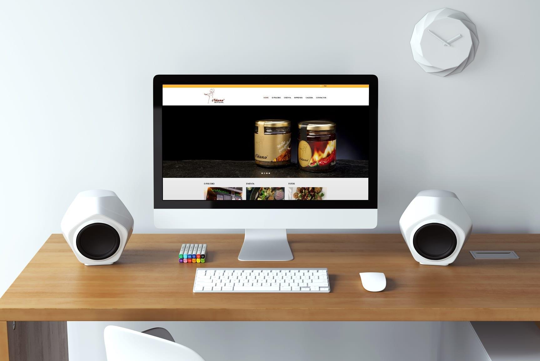Layout responsivo da homepage do website O Poleiro