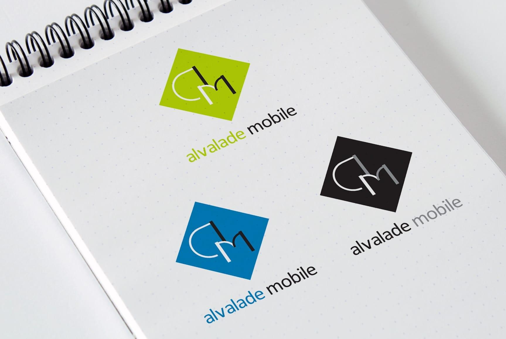 Pormenores da identidade visual da loja Alvalade Mobile