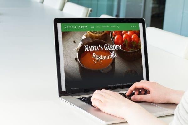 Imagem gráfica do site Nadia's Garden