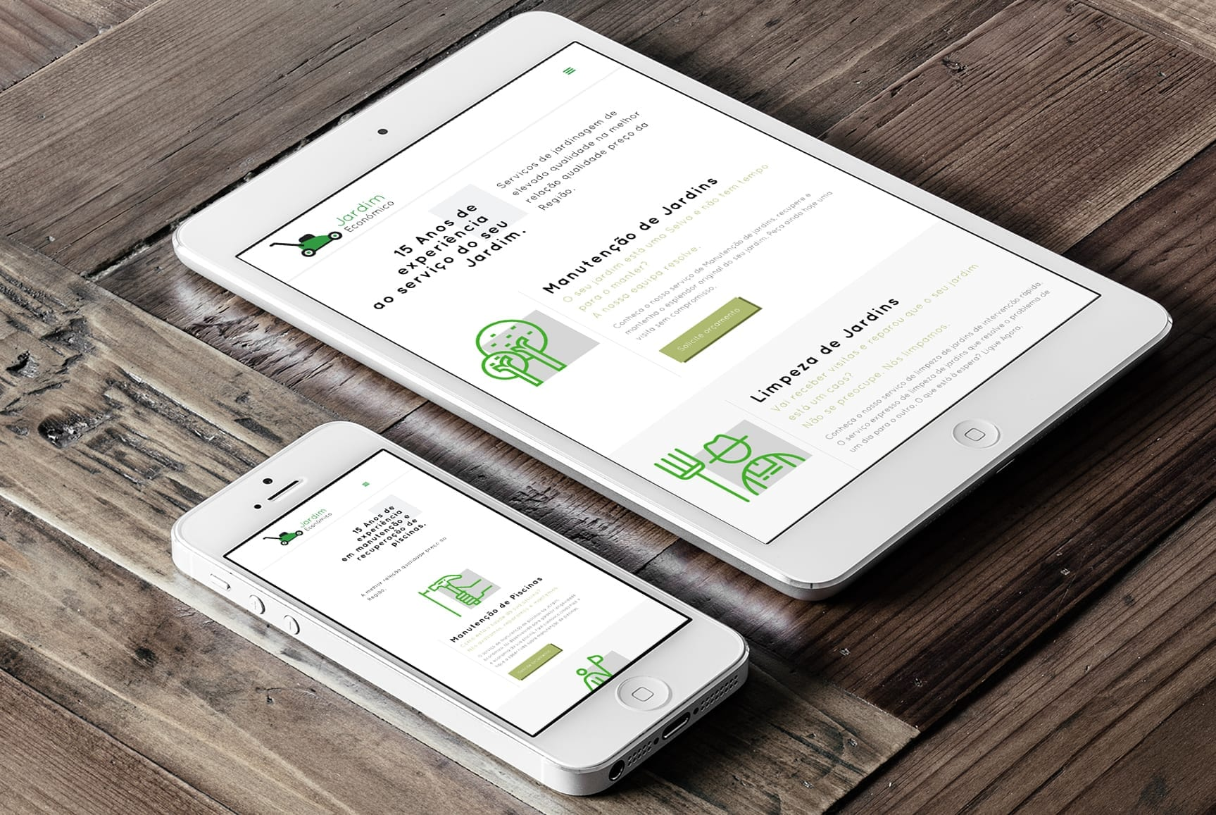 Website Jardim Económico - layout responsivo e em WordPress