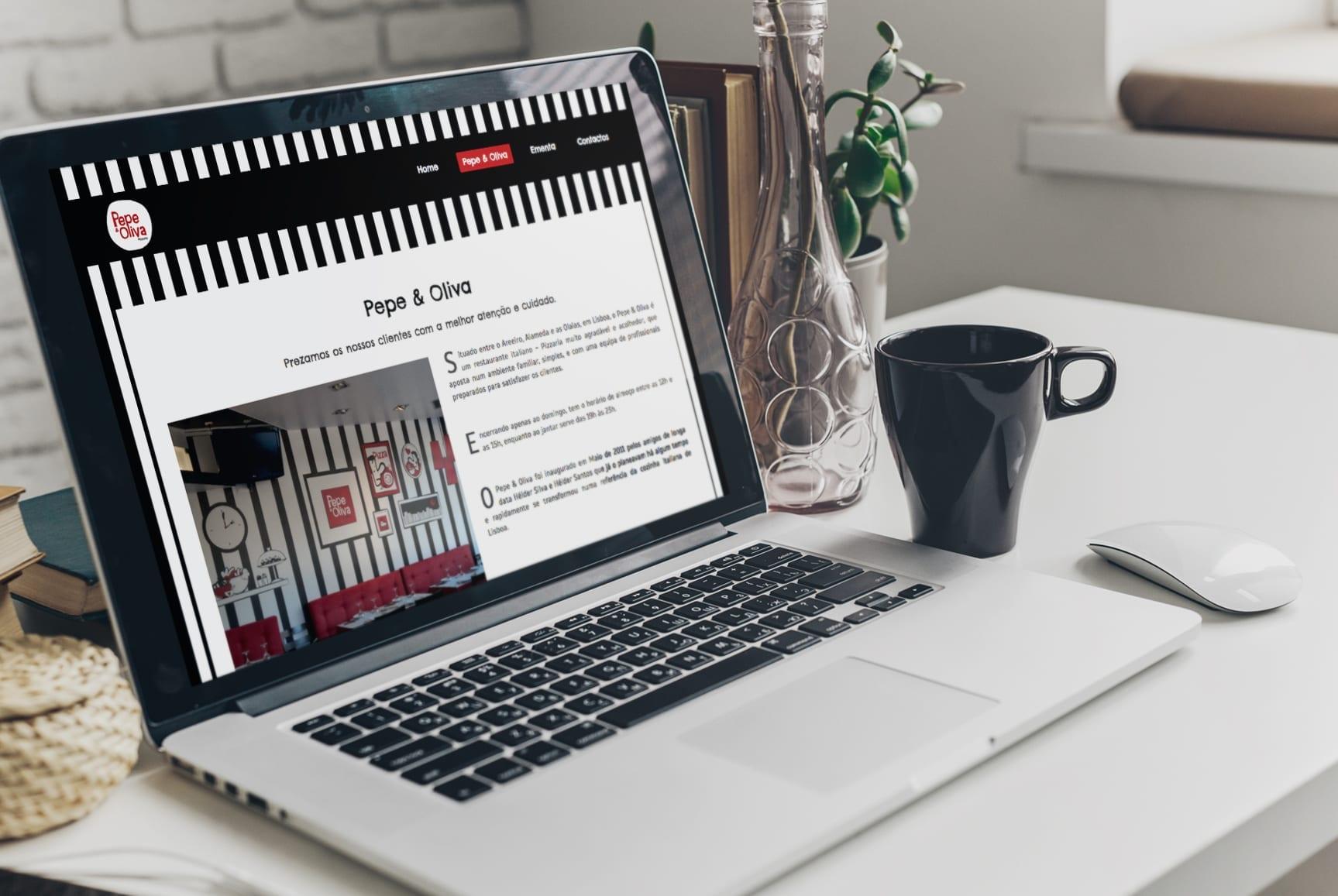Imagem gráfica do site Pepe & Oliva