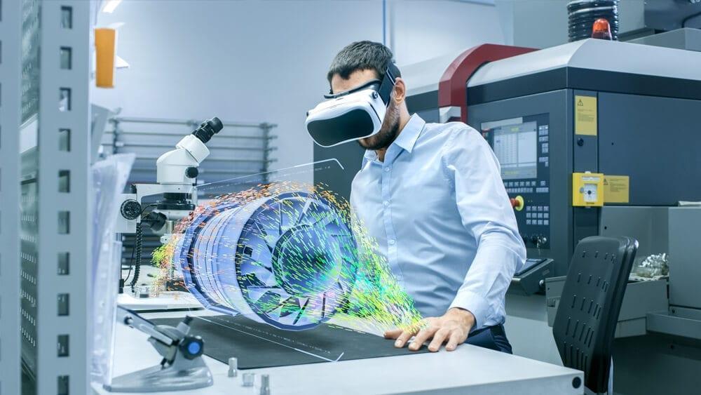 Óculos de realidade aumentada para uso profissional