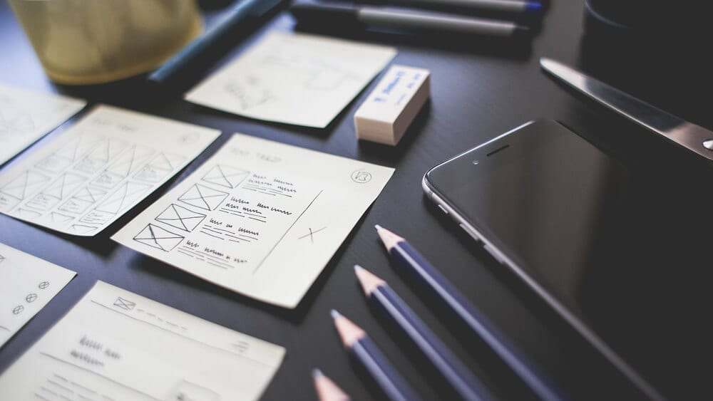Desenhos de templates responsivos para websites