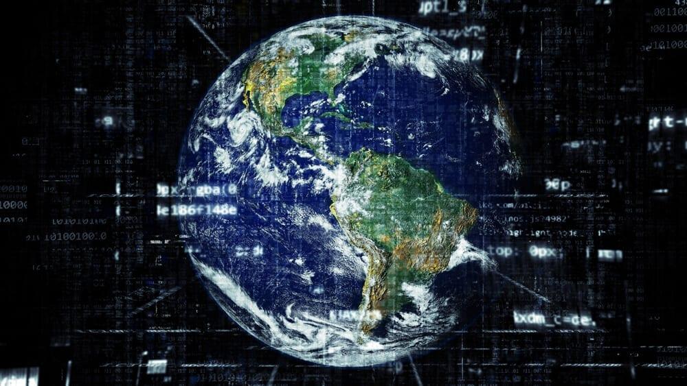 Mapa mundo e a influência da internet nos negócios