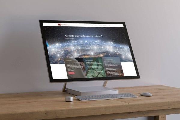 Layout responsivo da homepage do website Casos Singulares