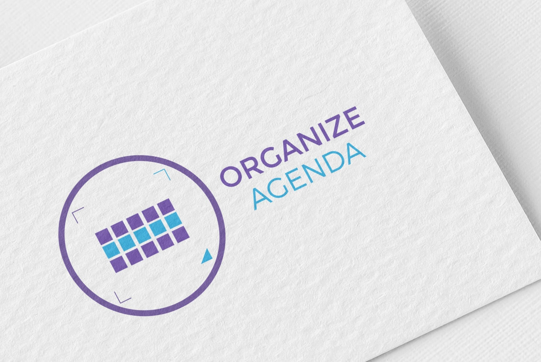 Identidade visual da empresa Organize Agenda