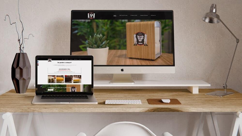 Design responsivo do Café com Pernas