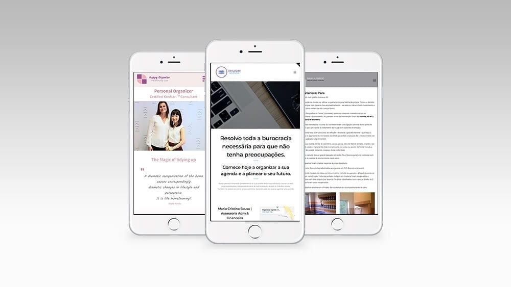 Layout de sites responsivos versão mobile