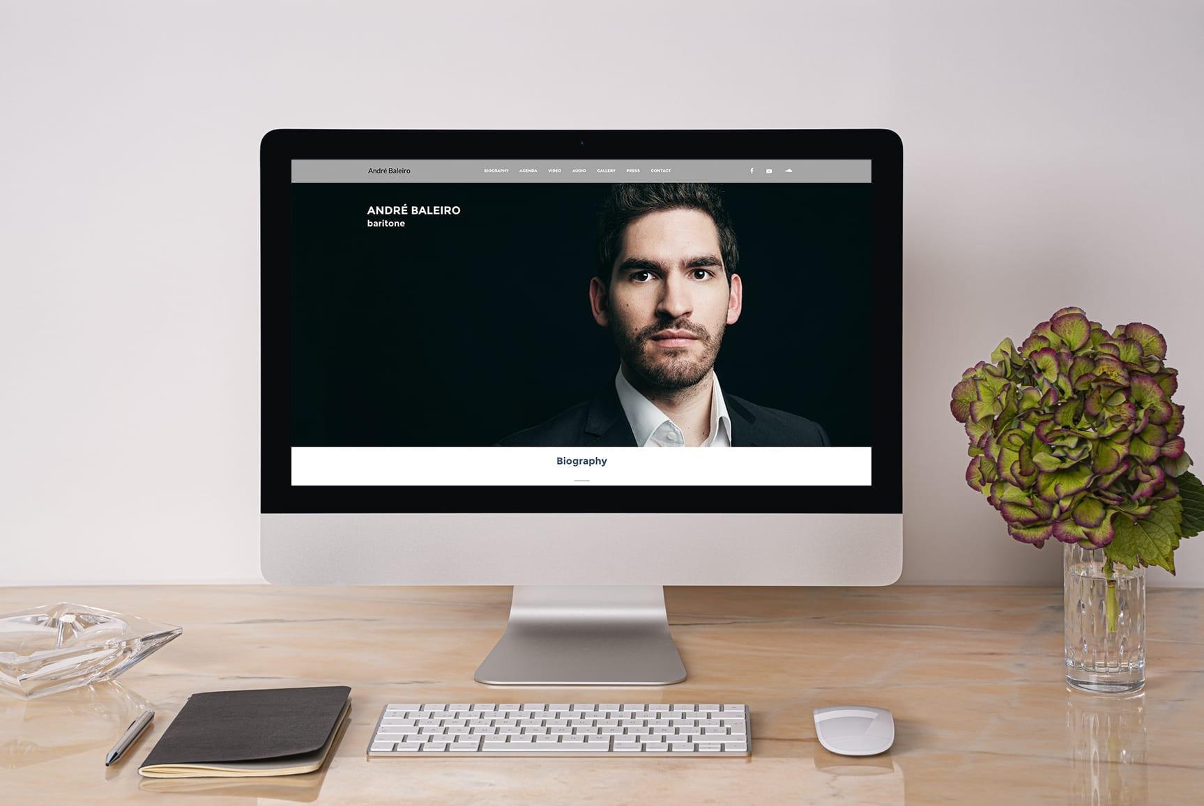 Site de cantor lírico versão desktop