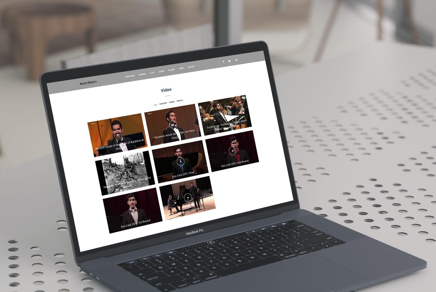 Site de cantor lírico versão laptop