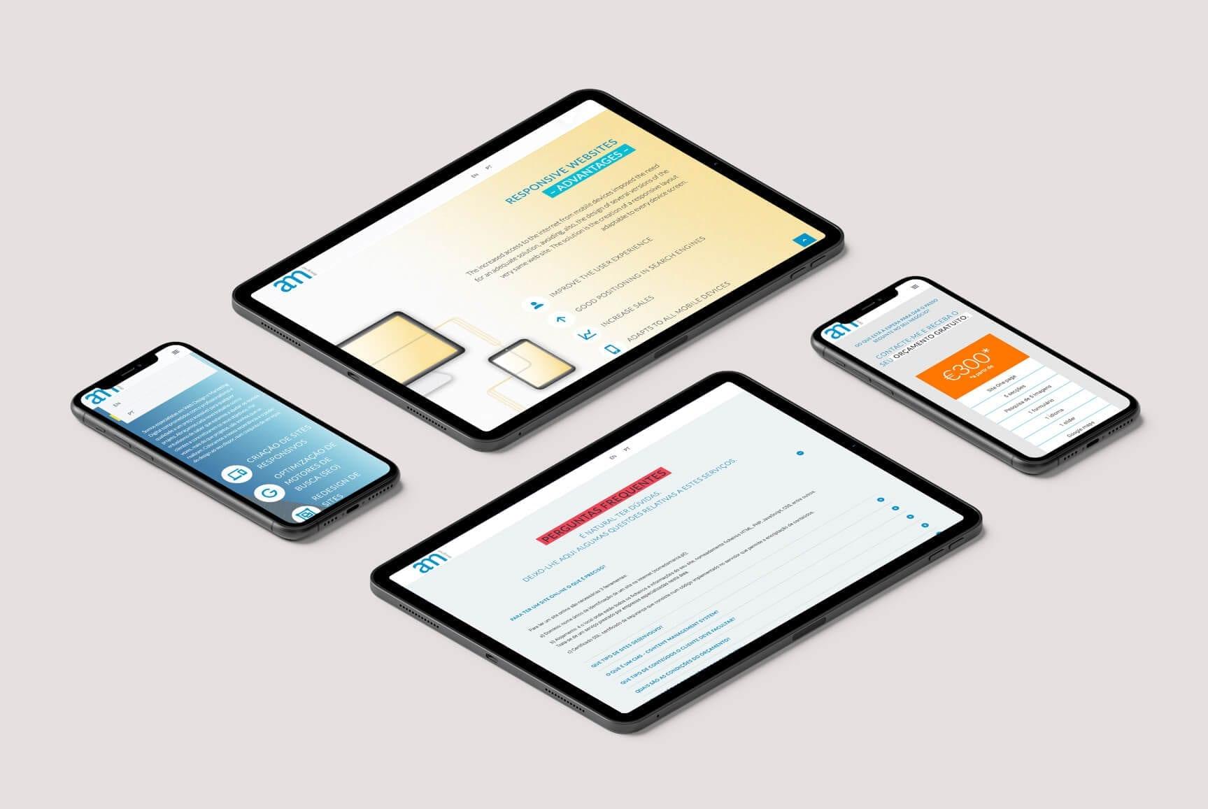 Layout responsivo do site Web Design acessível