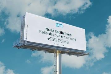 Mockup de um outdoor de publicidade para download