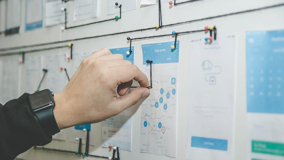 User Interface mockups de uma aplicação mobile